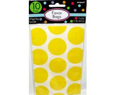 Amscan Candy Buffet Pois 10 Treat Bags Sun Jaune