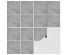 FoLIESEN® Lot de 50 autocollants pour carrelage de cuisine ou salle de bains–15x 15cm