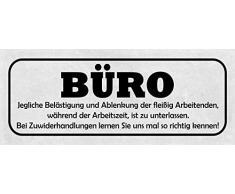 Schatzmix Spruch Bureau Plaque Murale en métal avec Inscription en Anglais « All Belästistiung and Ablenkung » - 27 x 10 cm - Multicolore