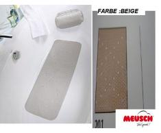 Meusch 2070201002 Tapis de Douche Monza 55x55cm Beige, Mousse de PVC, 55 x 55 x 2 cm