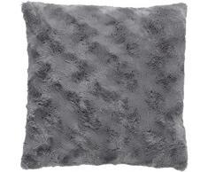 Dutch Decor Lugga Coussin, Polyester, Gris foncé, 45x 45x 15cm