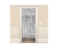Amscan Rideau de porte, Argent métallique