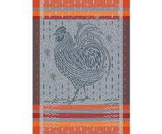 Garnier Thiebaut Torchon, Coton, Orange, 56x77 cm