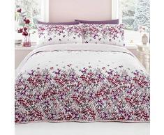 Dreams & Drapes Malinda en Cascade Fleur Couvre Lit (229x 195cm), Coton Polyester, Blush, complète