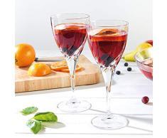 RCR 25119020006 Twist Cristal Verres à vin Rouge, 330 ML, Lot de 2