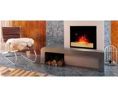 CheminArte 179 cheminee electrique fire wood 2000W, Noire, 66x15x52cm