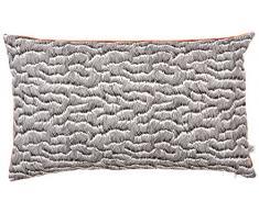Maison Martin Morel 0660042082336 Coussin Rectangulaire Wave Verso Coton Orange 8 x 30 cm