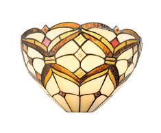 Lumilamp 5LL-5886 Applique Murale Style Tiffany en Verre coloré 30 x 15 x 17 cm E14/max.40 W