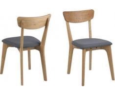 AC Design Furniture 69260 Taxi Chaise de Salle à Manger Gris Taille L/B/H env. 45/49/84 cm
