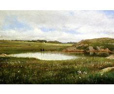 OdsanArt 16 x 10 cm Post Impressionism autres Freshwater étang été Rhode aux pirates Par Thomas Worthington Whittredge haute qualité Fine Art Prints Reproduction de photographie dArt sur toile