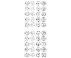 Multicraft Imports Collerettes multicraft Sentiment Film détanchéité Stickers-Damask Napperon, dautres, Multicolore