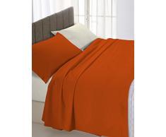 Linge de lit italien quartiers Brown double CREME/250 x 300 cm