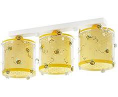plafonnier enfant 3 lumières Bee Happy Animaux