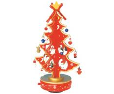 Musicbox World 16115 Sapin de Noël jouant O Christmas Tree Rouge 330 mm