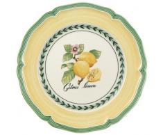 Villeroy & Boch French Garden Valence Assiette petit-déjeuner, 21 cm, Porcelaine Premium, Blanc/Multicolore