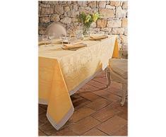 Garnier-Thiebaut 29645 SOUBISE Chemin de Table Antitache Coton Jaune dOr 270 x 52 cm