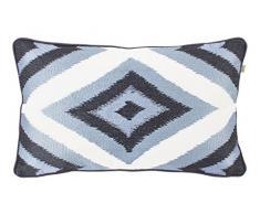 Dutch Decor Insignia – Coussin, 30x50 cm, Bleu - Coton