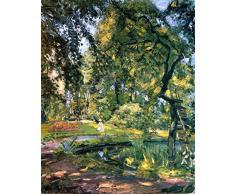 OdsanArt 12 x 15 cm-Post Impressionism autres Garden en Godrammstein avec une pousse excessive des arbres et étang Par Max Slevogt haute qualité Fine Art Prints Reproduction de photographie dArt sur toile