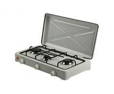 FM chauffage HG-300Plaque–Plaque (Table, gaz, émaillé, rotatif, Front, 58cm) couleur blanc