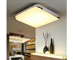 natsen® New LED plafonnier moderne salon plafonniers blanc chaud Lampe Argent i505y 24 W (390 * 390/24 W/2160 lumens) [Classe énergétique A + +]