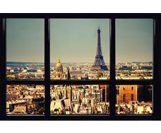 Empire Interactive Empireposter - Paris - Window - Taille (cm), env. 91,5 x 61 - Poster -