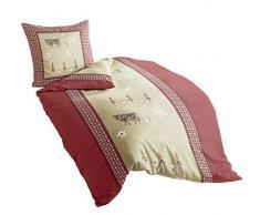 Irisette 8164–60 Dublin de linge de lit en flanelle Rouge 155 x 220 cm