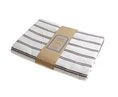 Campagne Table Linen Nappe à rayures Bleu