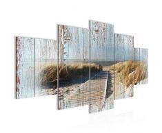 Tableau decoration murale Plage de la mer - XXL Impression sur Toile Salon Appartment 5 Parties - prêt à accrocher - 604053b