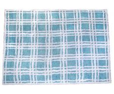 Aratextil Nombre Tapis Enfant, Coton, Bleu Ciel, 120Â x 160Â cm