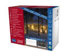 Konstsmide 4652-103 Hightech Système Rallonge Supérieure Rideau Stalactites Lumineux 50 LED Blanc Chaud Transparent