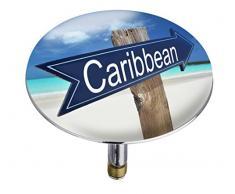 Wenko 21843100 Pluggy Bouchon de Baignoire Caribbean Multicolore Taille XXL Dimensions 7,5 x 7,5 x 5,5 cm