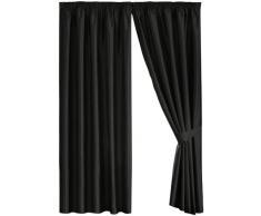 Dreams n Drapes Java Double rideaux à oeillets Noir 230 x 230 cm