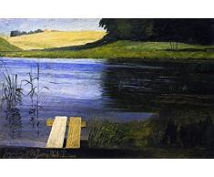 OdsanArt 16 x 10 cm Post Impressionism autre onglet dun étang Par Johan Thomas Lundbye haute qualité Fine Art Prints Reproduction de photographie dArt sur toile