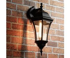 Applique murale rustique dextérieur Varsovie Lampe murale en noir avec culot E27 à 60 W 230 V la Cour Lampe de jardin Lampe extérieure pour terrasse