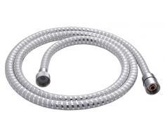 Gedy Double White 01 Flexible de Douche, PVC, Chrome et Blanc, 1,4 x 1,4 x 200 cm