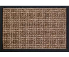 ID Mat 80120 10 Impact Carre Tapis Paillasson Fibre Polypropylène/Caoutchouc Marron 120 x 80 x 1 cm