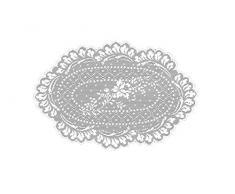 Heritage Dentelle Floret Napperon, Blanc, 8Â x 12-inch-p, blanc, 90 x 90-Inch