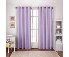 Exclusive Home Curtains Exclusif Maison Rideaux Enfants Lin texturé Thermique Grommet Top fenêtre Panneau de Rideau Paire, Lilas Violet, 54x 84cm, 2pièces