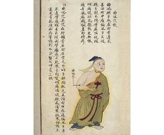 Vintage Anatomy chinois dacupuncture Moxibustion le Quchi (piscine au point le voleur) à partir de Chuanwu Lingji Lu (Record of Sovereign Enseignements), un traité sur Acu-moxa en deux volumes par Zhang Youheng, Chine en