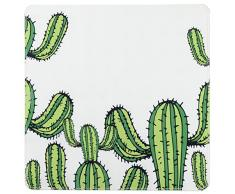 WENKO 23164100 Tapis antidérapant de douche Cactus, Blanc/Vert, 54x54 cm