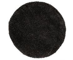 Just Contempo Tapis à poils longs, beige, 120 x 170 cm, noir, 133 x 133 cm