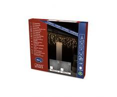 Konstsmide 2741-103 Rideau Lumineux Intérieur 96 LEDs 24 V Blanc Chaud Câble Transparent