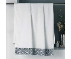 douceur dintérieur drap de bain 90 x 150 cm eponge goldy blanc/argent
