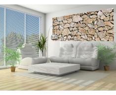 Delester Design Décor mural Papier peint intissé vinyle - Mur en pierres de maison ancienne