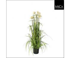 MICA Decorations 930524Â Pom Pom Feather Herbe Plante Artificielle, PVC, Vert, 45Â x 45Â x 120Â cm