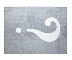 Aratextil Interrogation Tapis Enfant, Coton, Gris, 120Â x 160Â cm