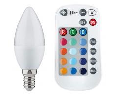 Paulmann 28517 LED Ampoule Bougie changement couleur 3,5W, E14, avec télécommande