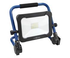 ANSMANN accus LED 30W projecteur– Projecteur de travail avec 3 lumières différentes et lecture de vrai couleur CRI >80, lampe de travail IP54 résistante au mauvais temps, pied avec statif dispositif