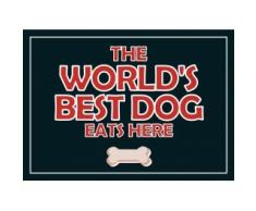 Plenty Gifts 72049 Napperon Worlds Best Dog, Plastic, Universel, Taille Unique