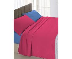 Linge de lit italien de lit double Violet/gris 250 x 300 cm